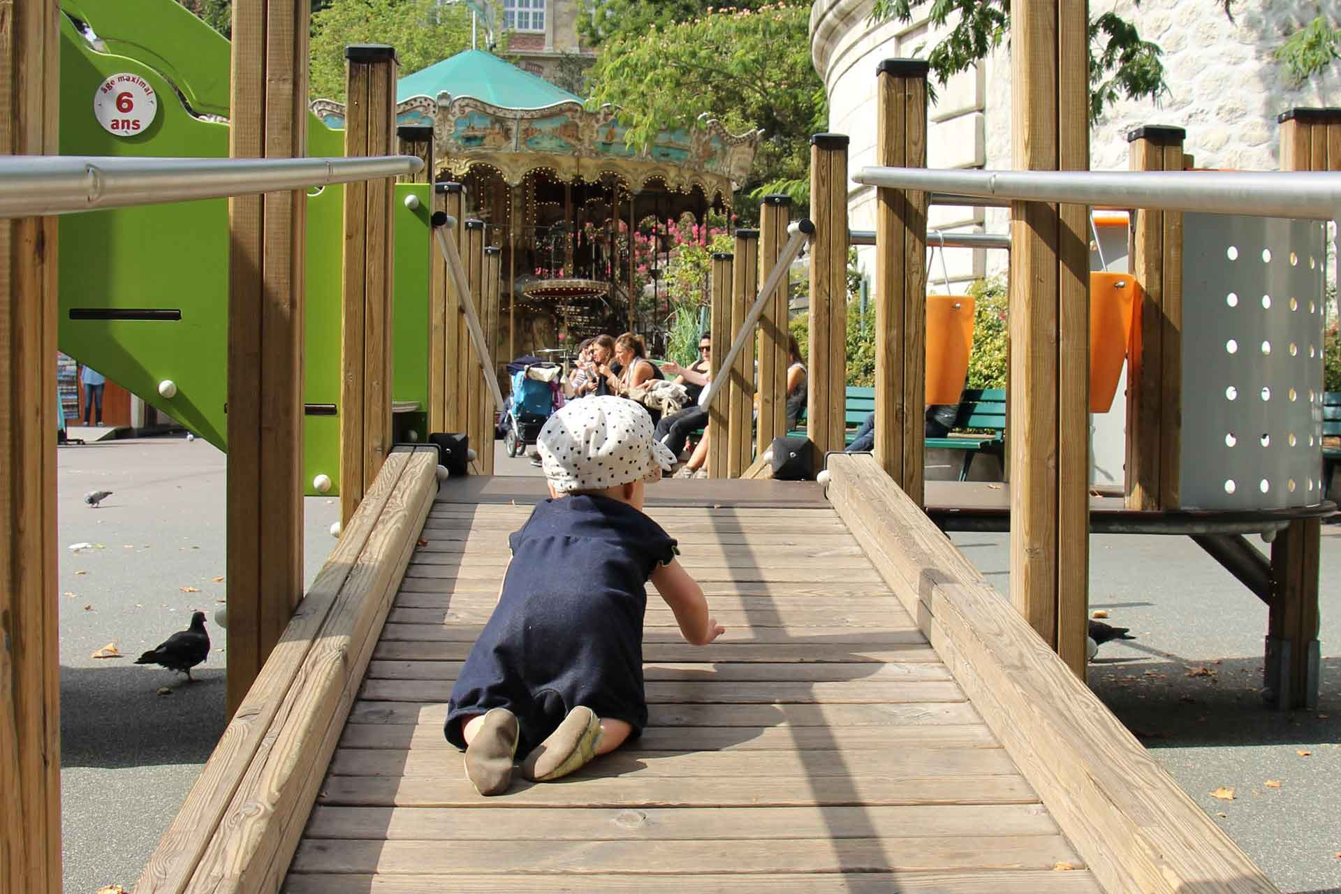 Paris Playgrounds with a baby or toddler.