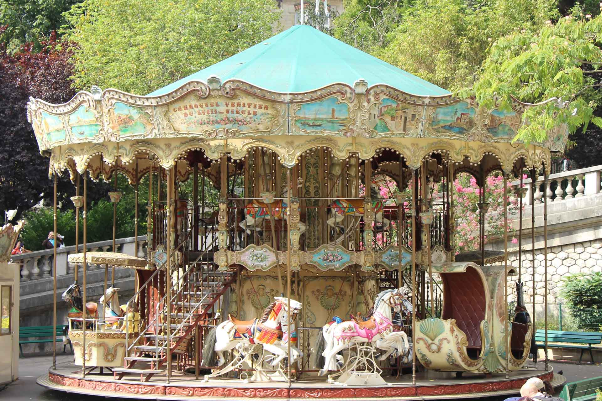 Carousel near Sacre Coeur in Paris