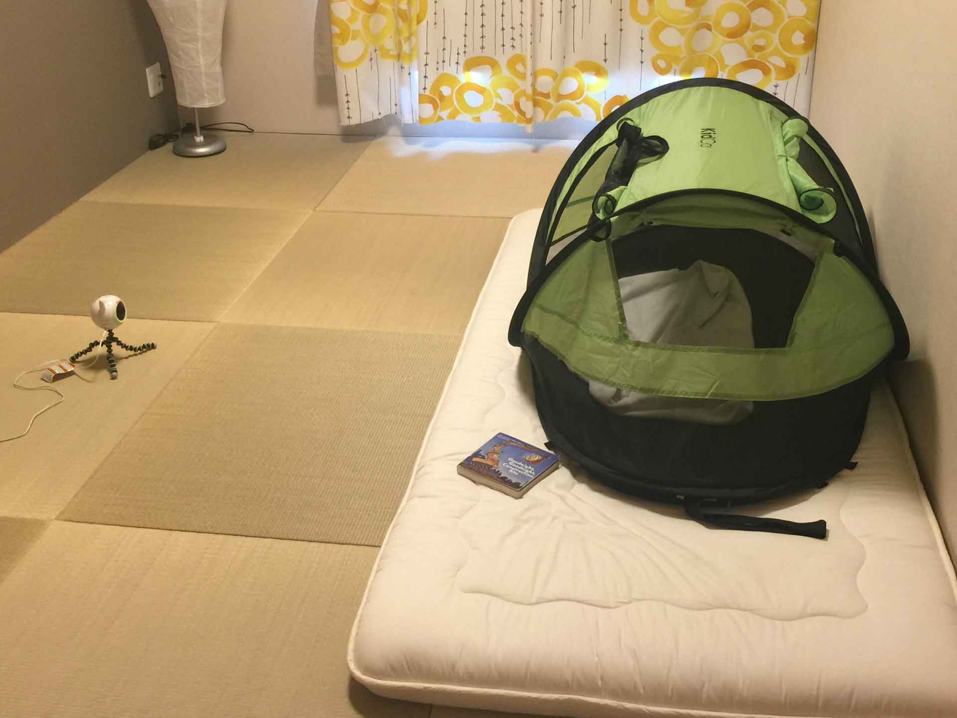 KidCo PeaPod Plus Travel Tent used in Japan
