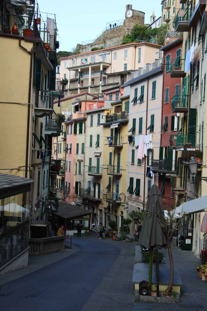 Visit Riomaggiore Cinque Terre Italy with kids early in the morning to enjoy empty streets