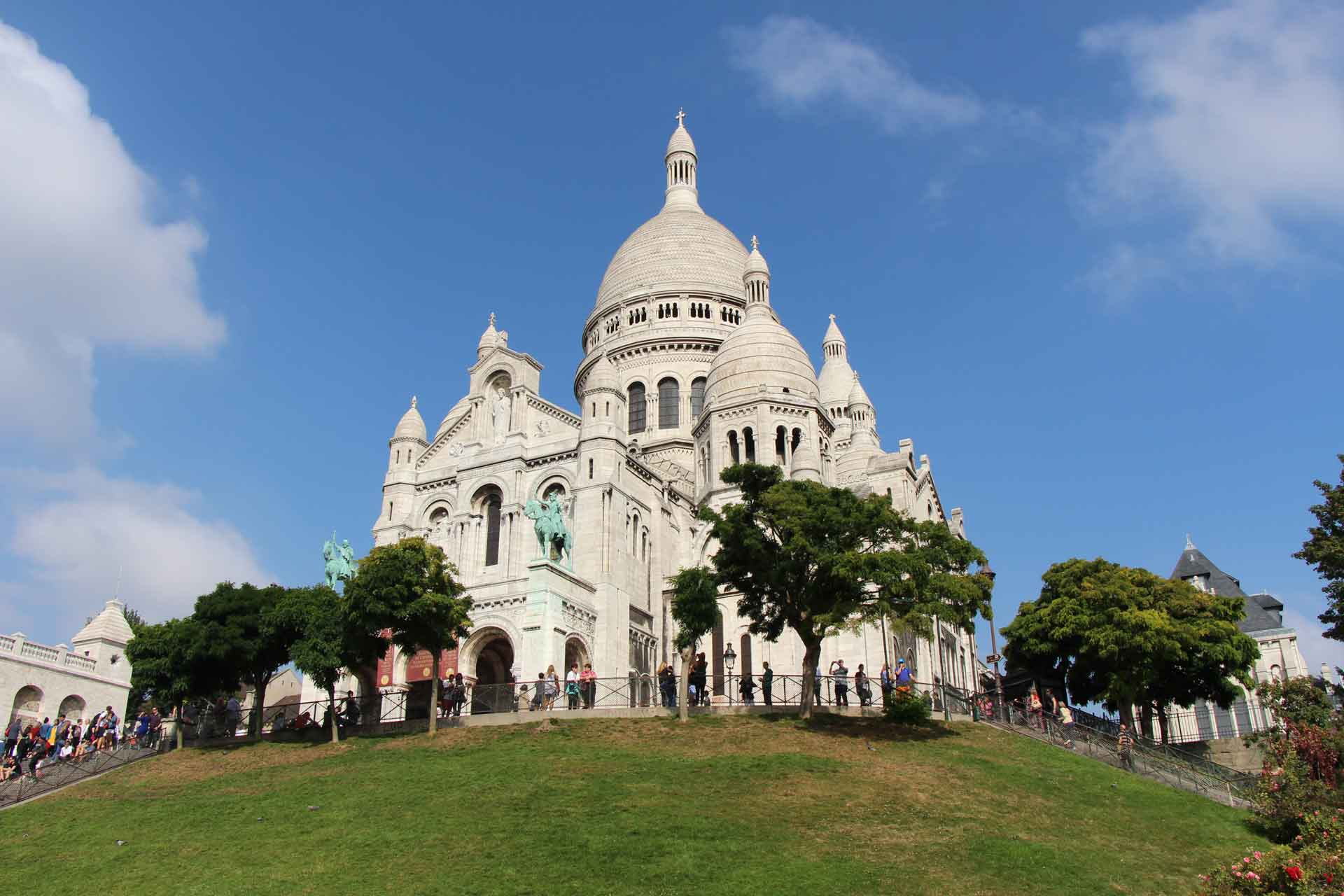 Sacre Coeur Paris with a baby