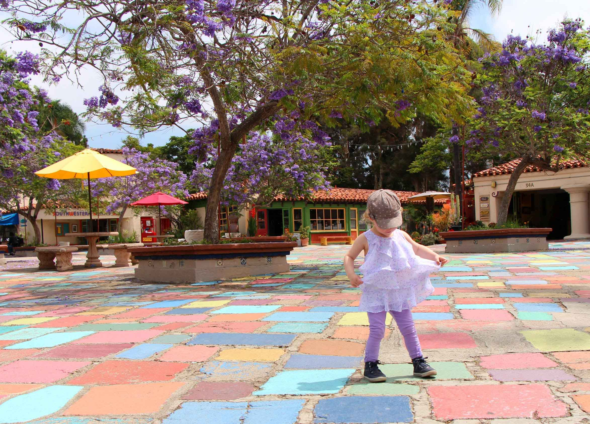 San-Diego-with-a-Baby-and-toddler---Spanish-Village-Art-Centre
