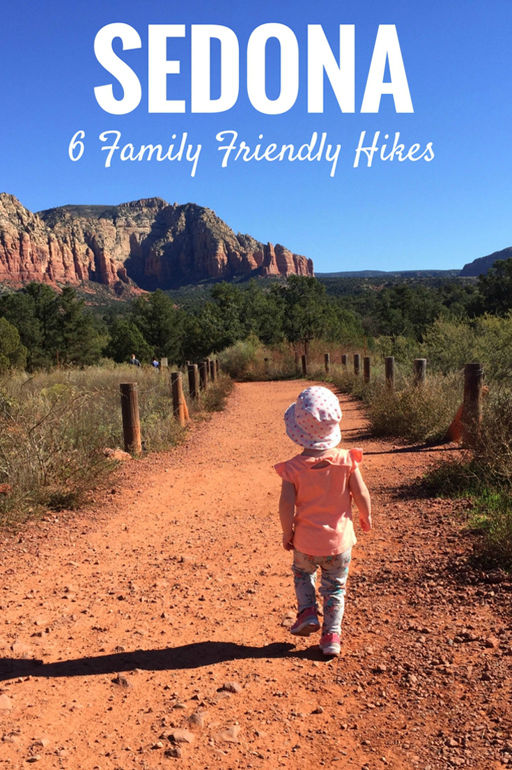 Traveling to Sedona Arizona with a baby or toddler? Here is a list of hikes that are family friendly! #hikingwithkids #toddlertravel #travelwithbaby #hiking #sedona #arizona #familytravel