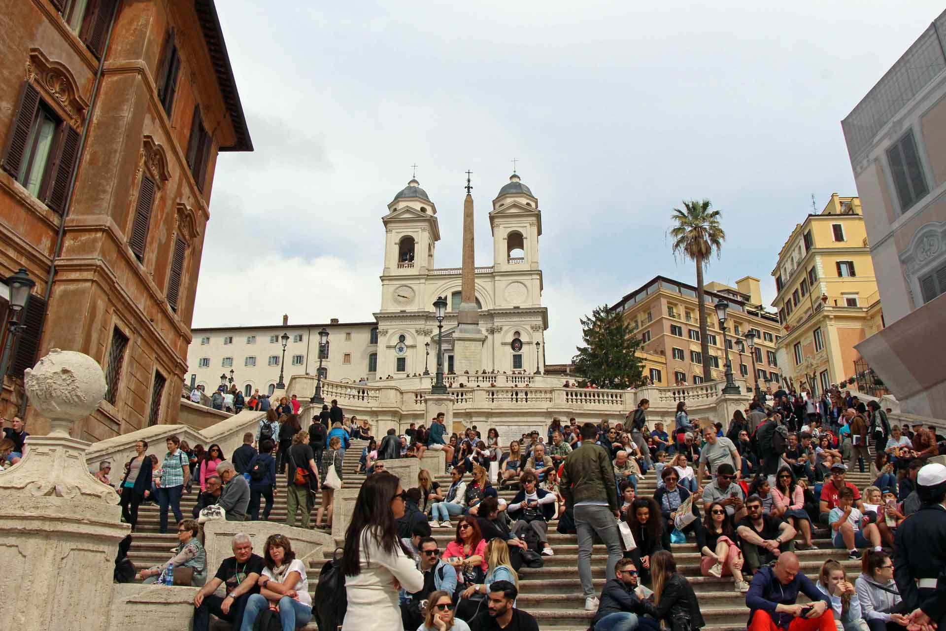 The Spanish Steps are often very busy.