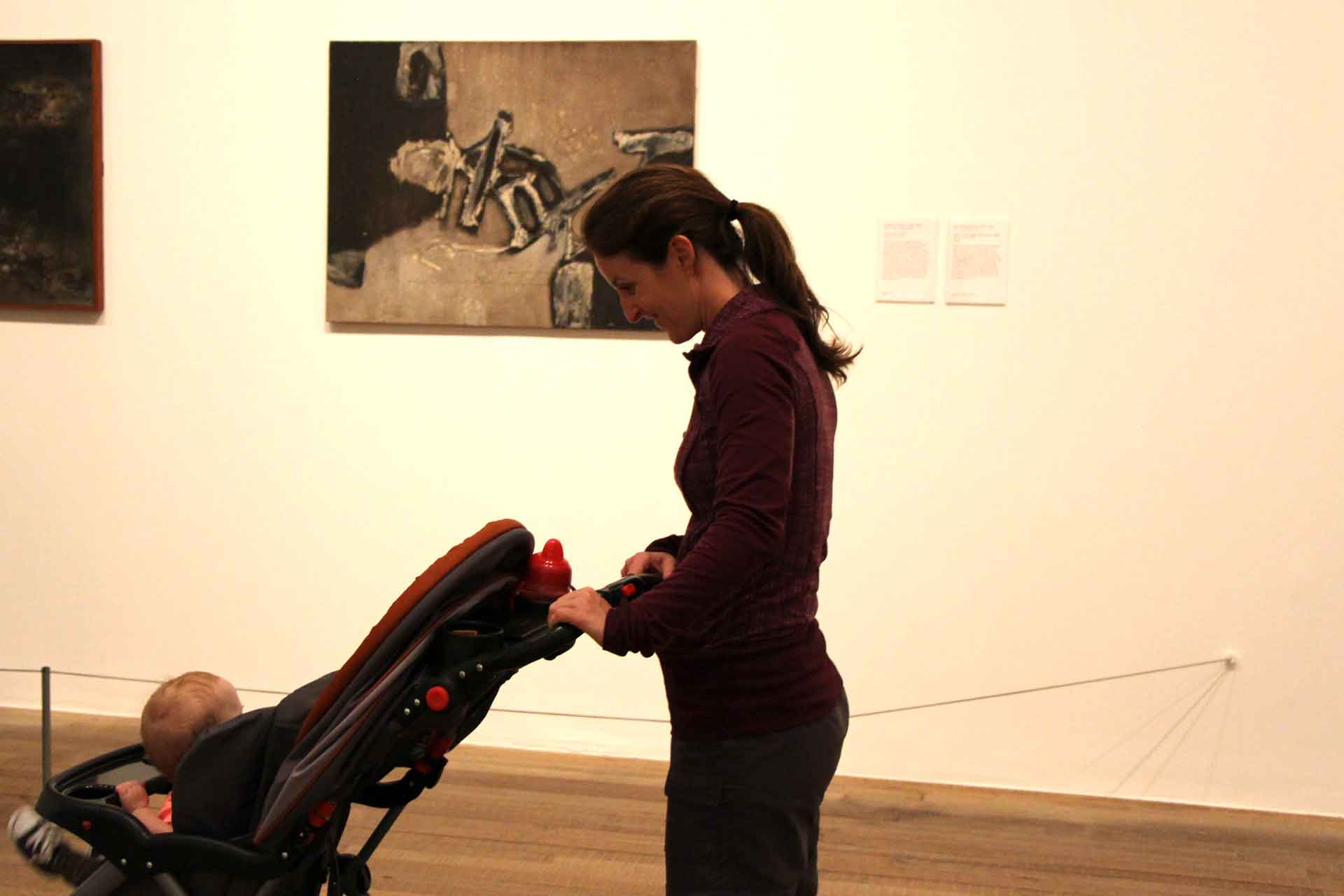 Tate Modern in London with Stroller