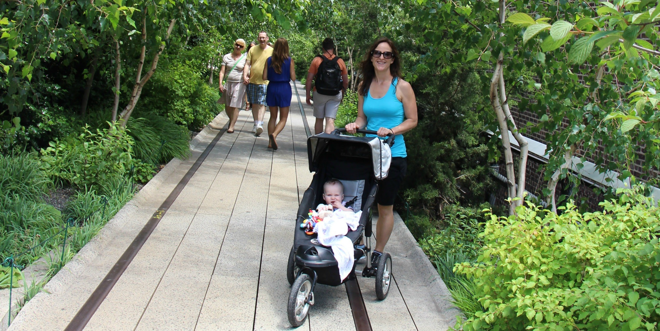Walking the High Line with a baby