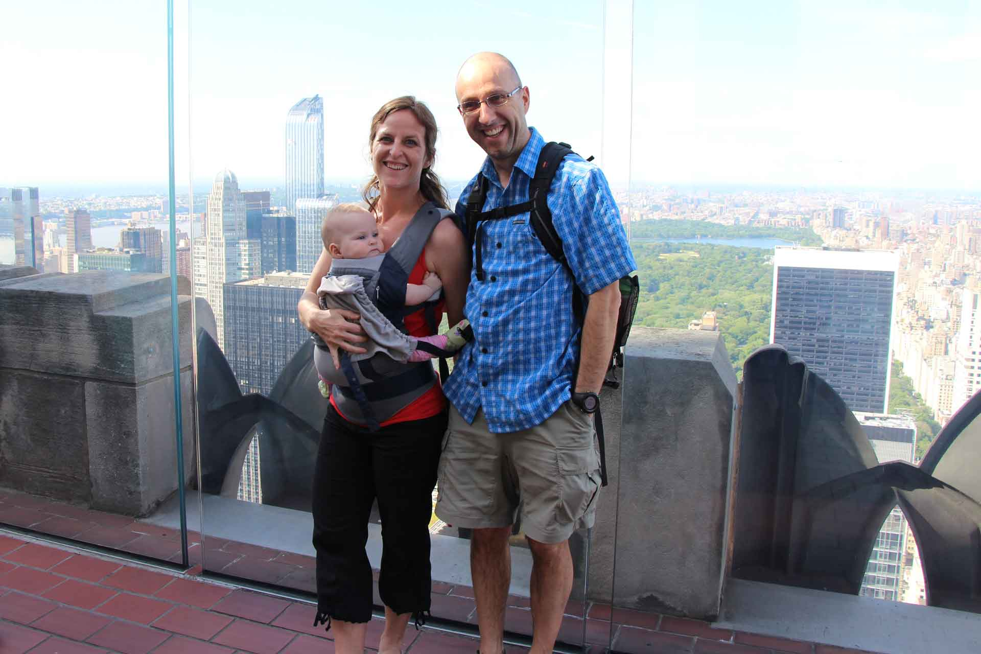 Top of the Rock NYC with a baby