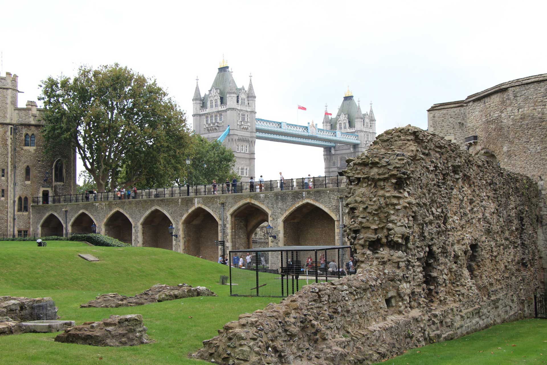 Tower of London with a baby