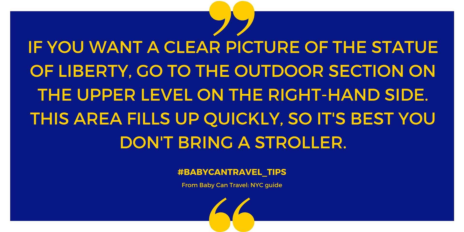 NYC with a baby travel tips