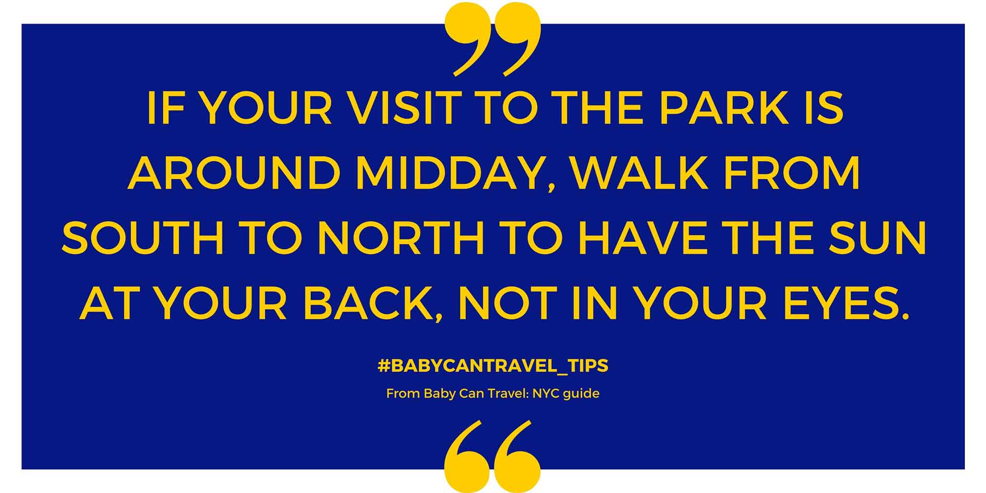 Manhattan with a baby travel tips