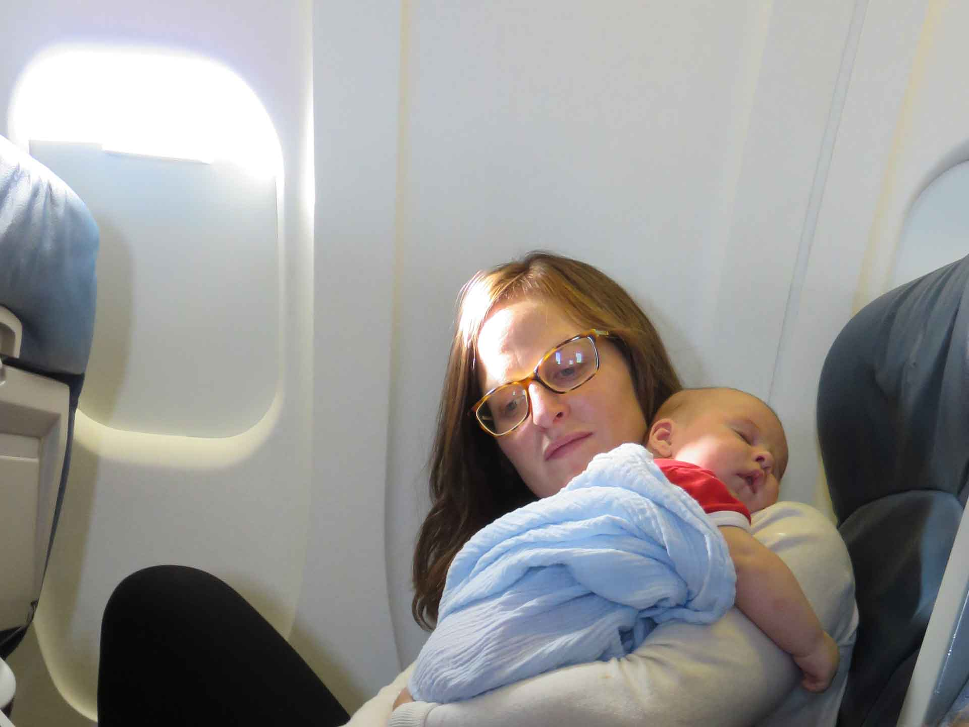 flying with newborn