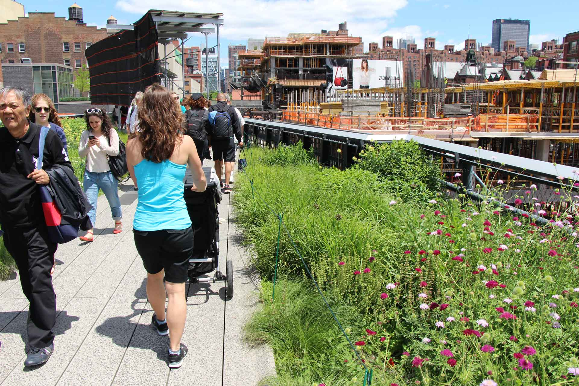 Walking the High Line NYC with a stroller