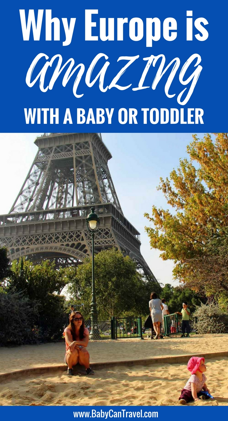Europe is a perfect destination with a baby or toddler. Click to read why! | Family Travel | Toddler Travel | Baby Travel | Travel with Baby | #familytravel #travelwithbaby #Europe #Rome #Paris #London #Barcelona