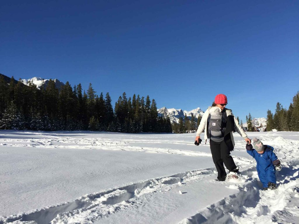 Winter activities with a baby