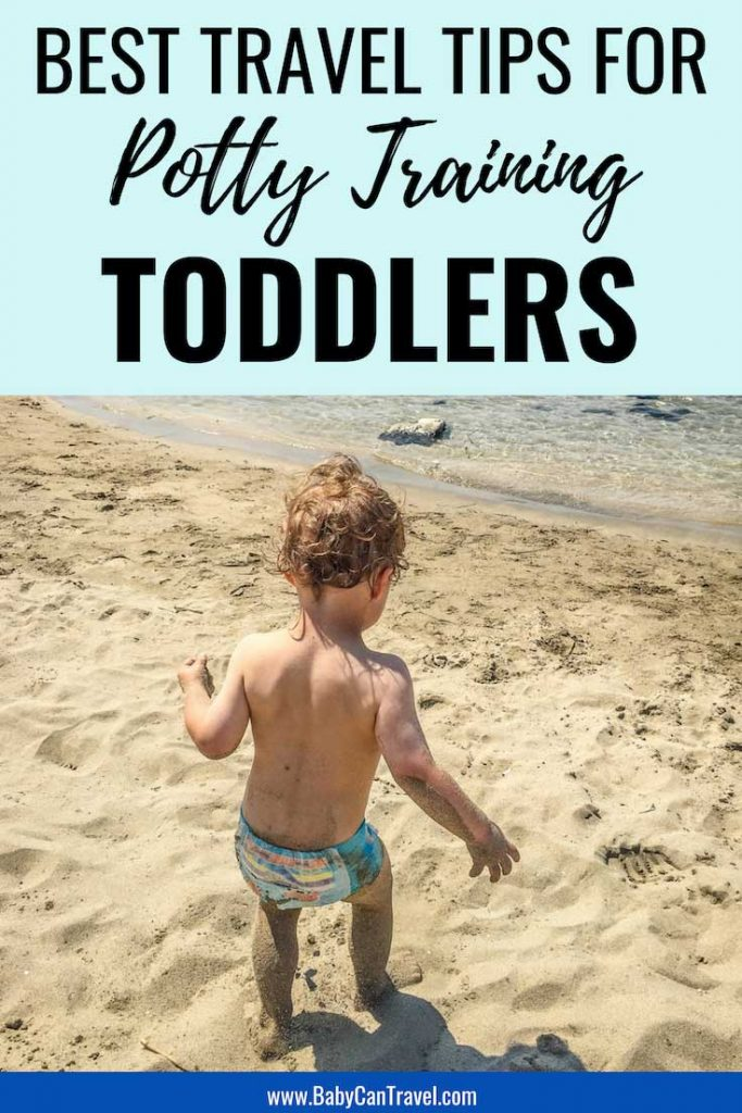 Have a newly potty training toddler? Here are our best travel tips for traveling with potty training toddler. From flying to car rides, this will make travel with a newly potty trained toddler easier! #pottytraining #toddlertravel || Travel with Toddler | Potty Training Toddler | Travel with Potty Training Toddler | Toilet Training | Toddler Travel