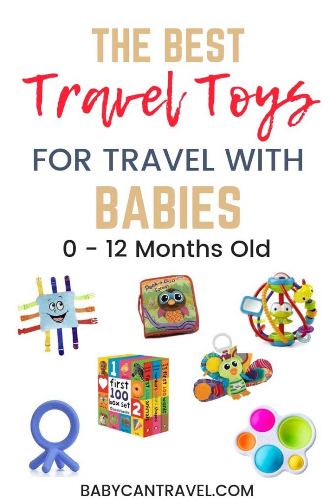 How to entertain baby on a plane? We have all the best airplane travel toys for babies and toddlers! From flying with infants to toddlers, these are the baby travel toys you need! #flyingwithbaby #babytraveltoys