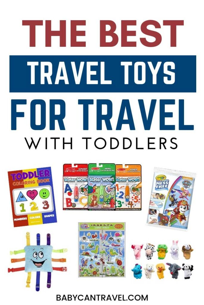 How to keep a toddler entertained on a plane? Here's the best travel toys for toddlers! #toddlertravel #flyingwithtoddlers #toddlertraveltoys