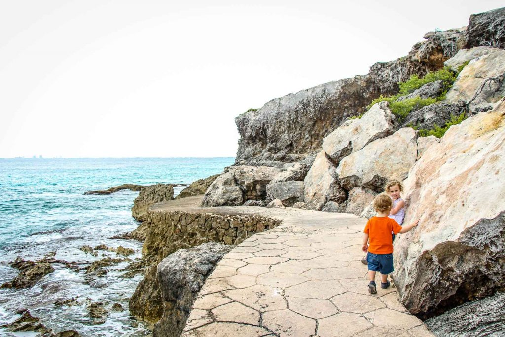 Punta Sur on Isla Mujeres with toddler