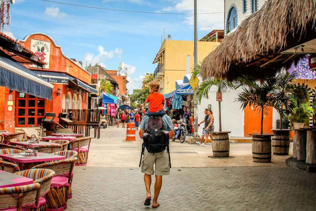 Isla Mujeres with toddler or baby