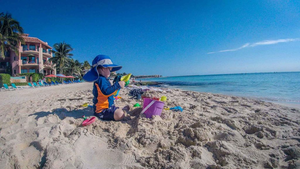 Beaches in Playa del Carmen Mexico with baby or toddler