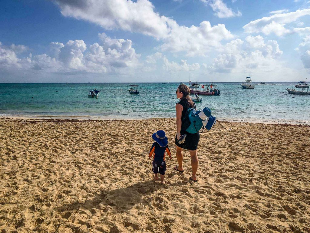 Beaches in Mexico with Toddler Photo
