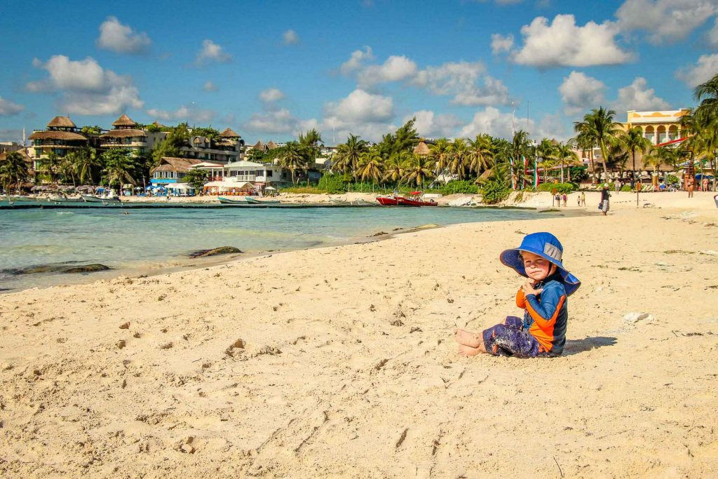Best beaches Mayan Riviera with baby or toddler