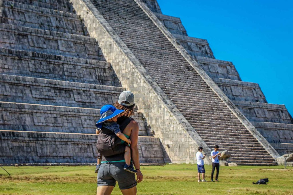 Chichen Itza with a Toddler in Mexico