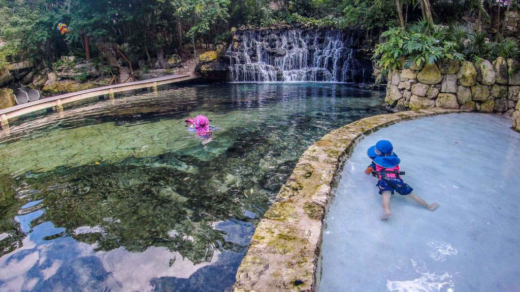 Xcaret with a baby or toddler