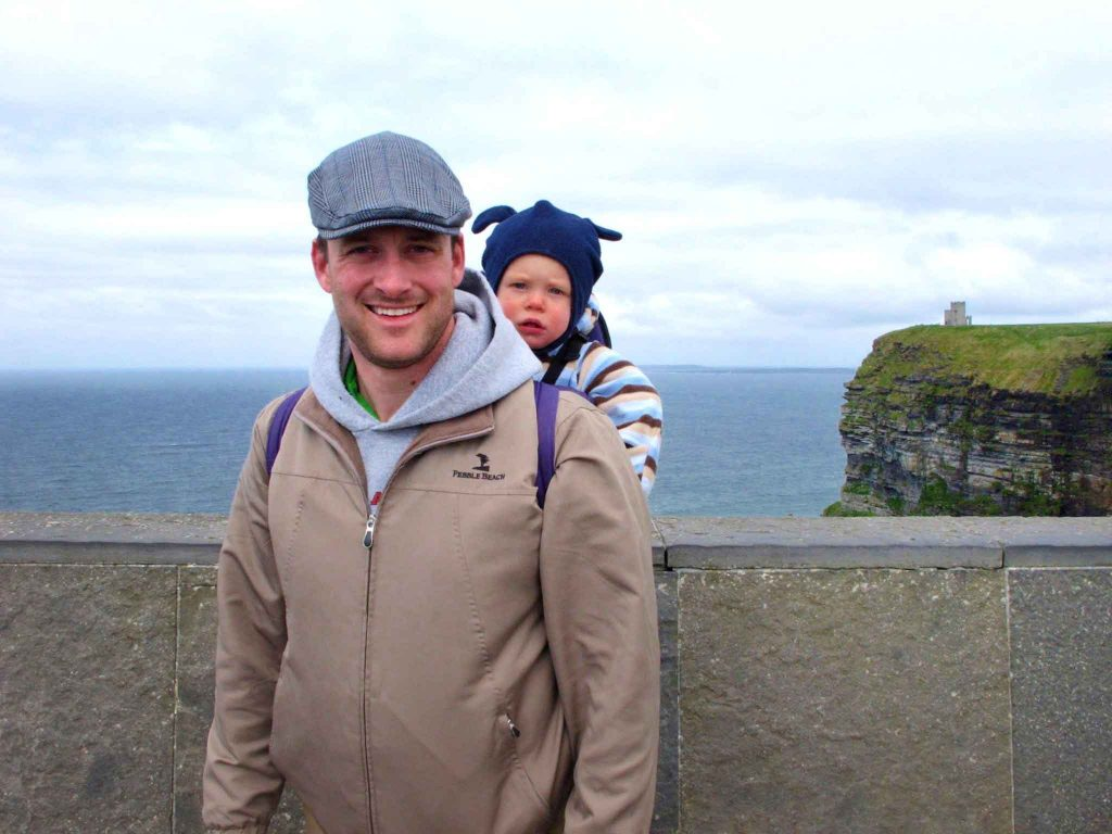 Ireland with toddler or baby - Cliffs of Moher