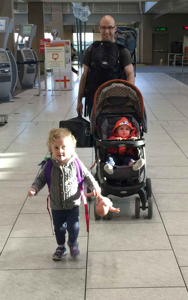 Flying with baby and toddler