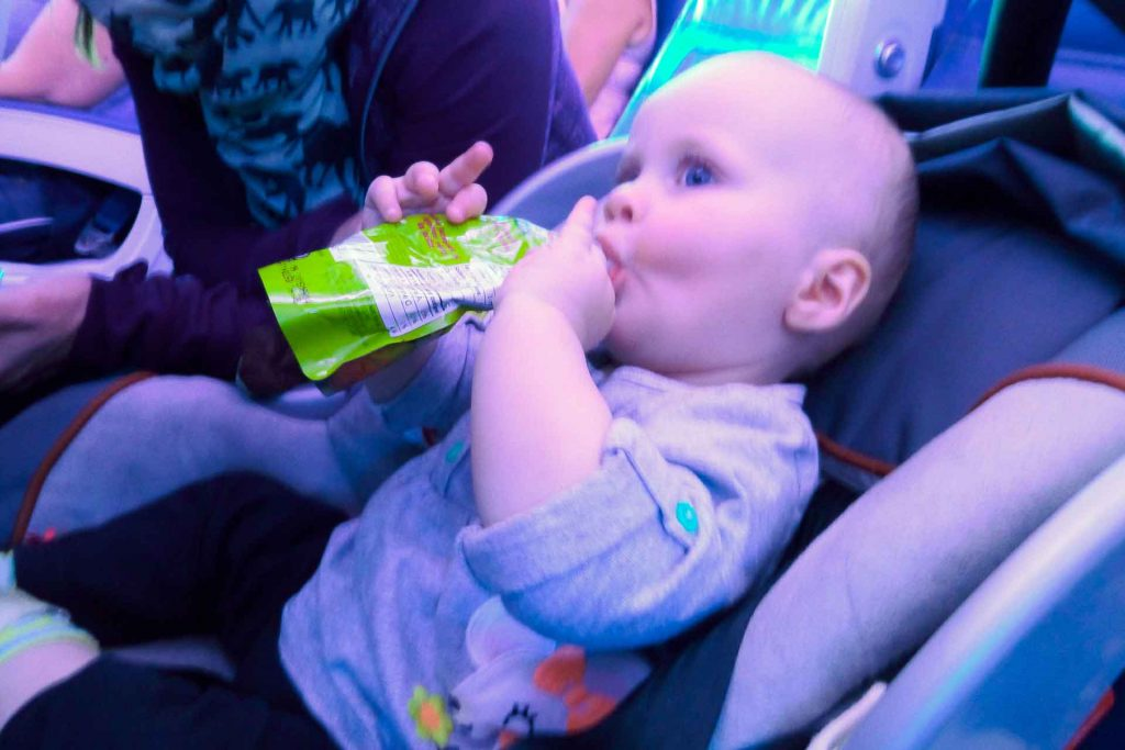 Flying with baby in car seat