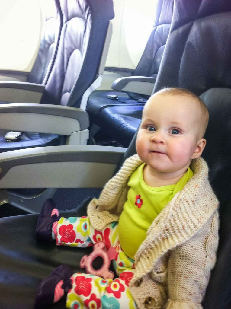 Travel with baby on airplane