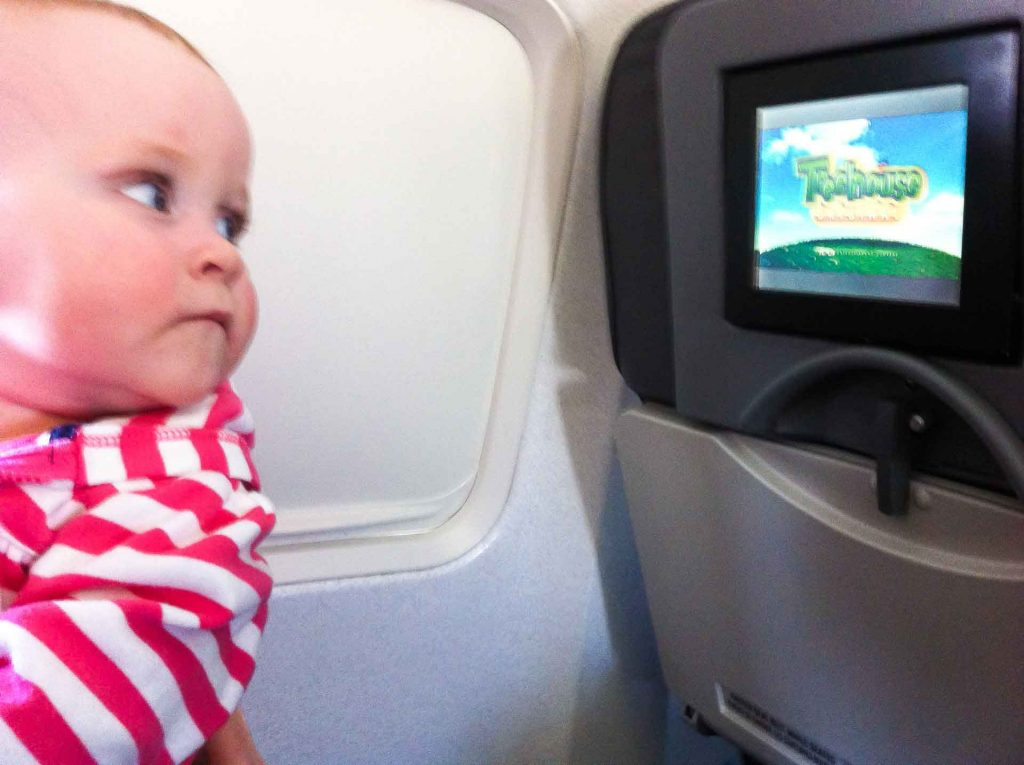How to entertain baby on airplane