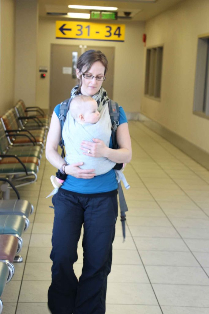 Flying with a baby in baby carrier