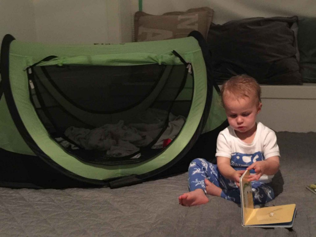 KidCo Peapod tent for traveling with toddlers