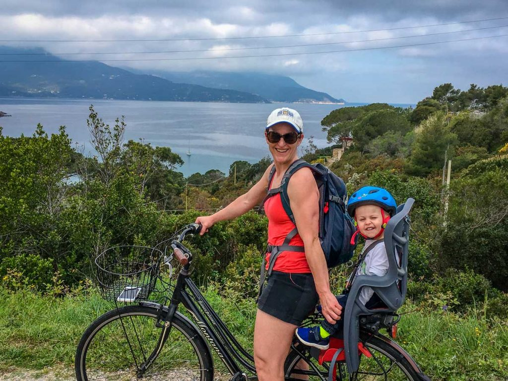 Renting bikes in Italy with Toddler - top vacation destinations with toddlers