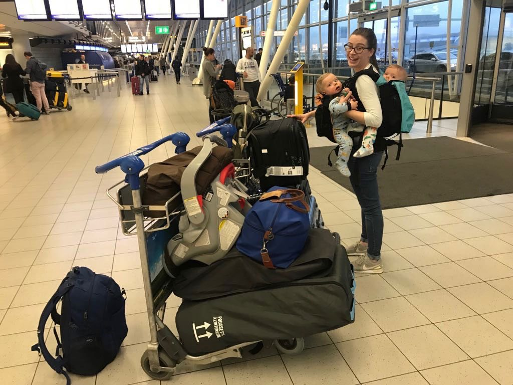 flying with twin infants