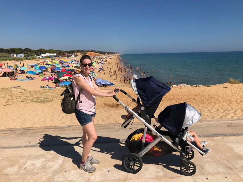 travel with twins in double stroller
