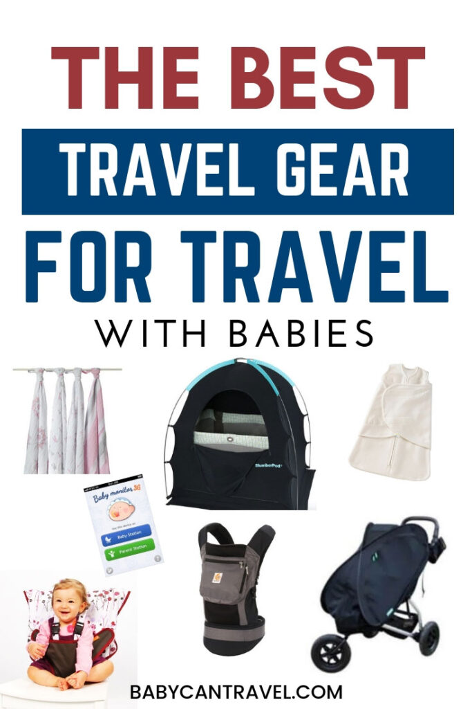 Wondering what baby travel essentials to pack and what to leave behind? We share it all in this post - including the best baby products for travel with a baby! Click to read more...
