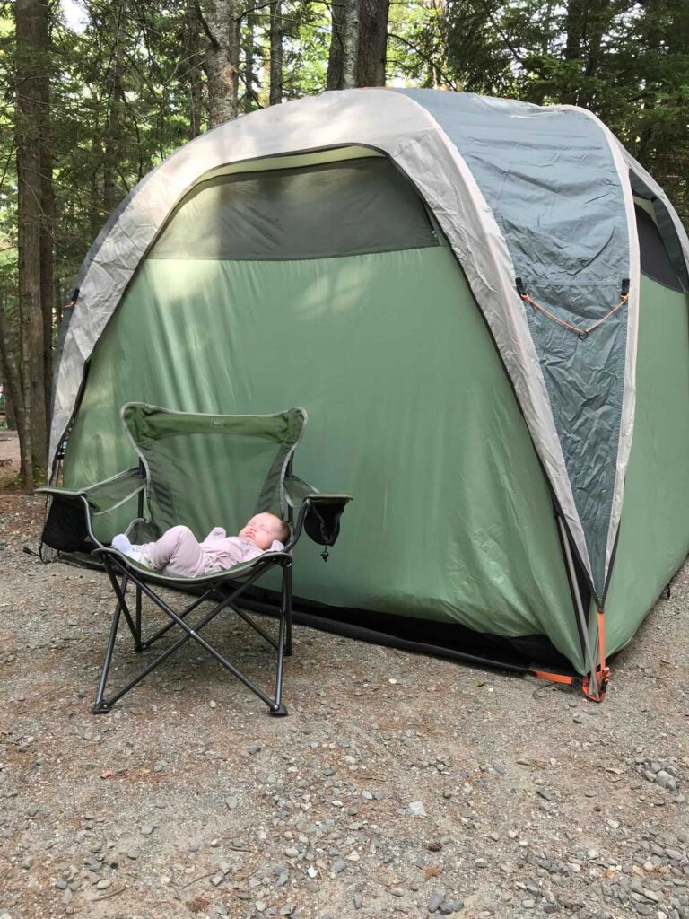 Tent Camping with a Baby in Acadia National Park
