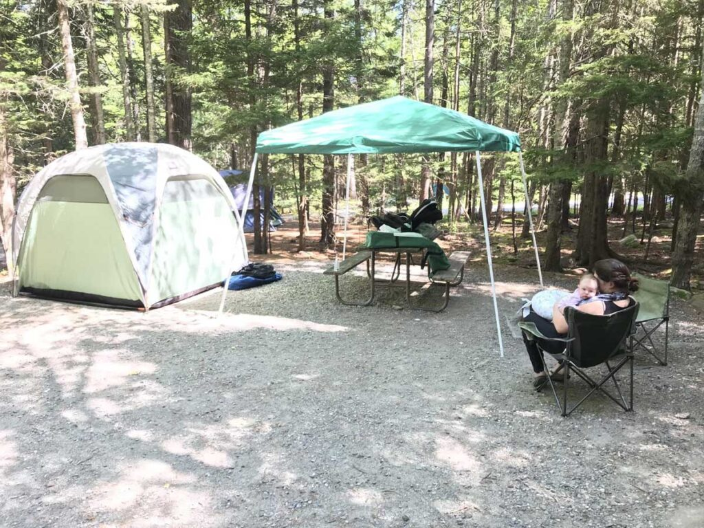 Camping with infant in Acadia NP