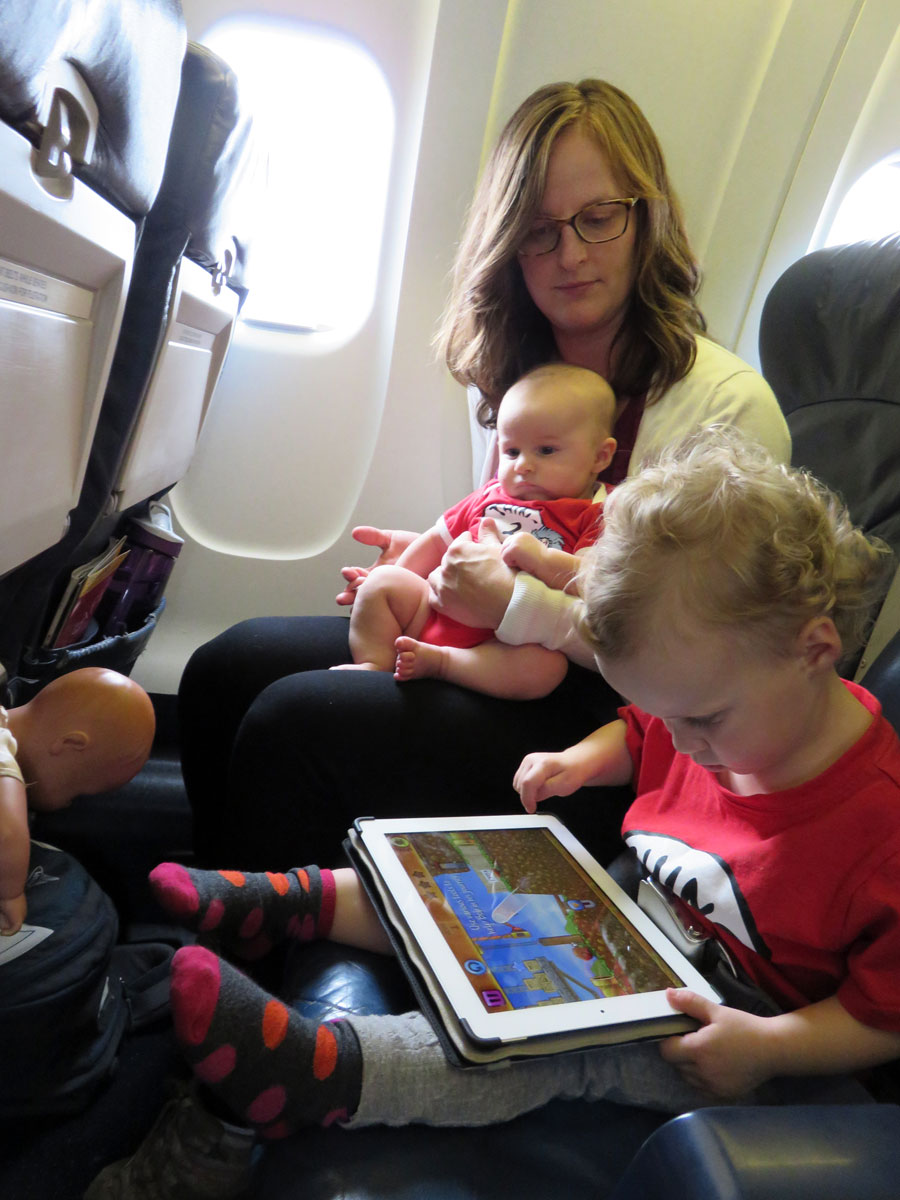 flying with a baby and toddler