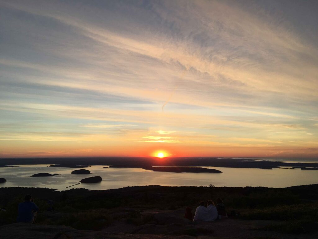 View from Cadillac Mountain in Acadia National Park with a Baby