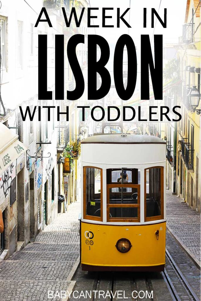image of tram 28 in Lisbon with text overlay