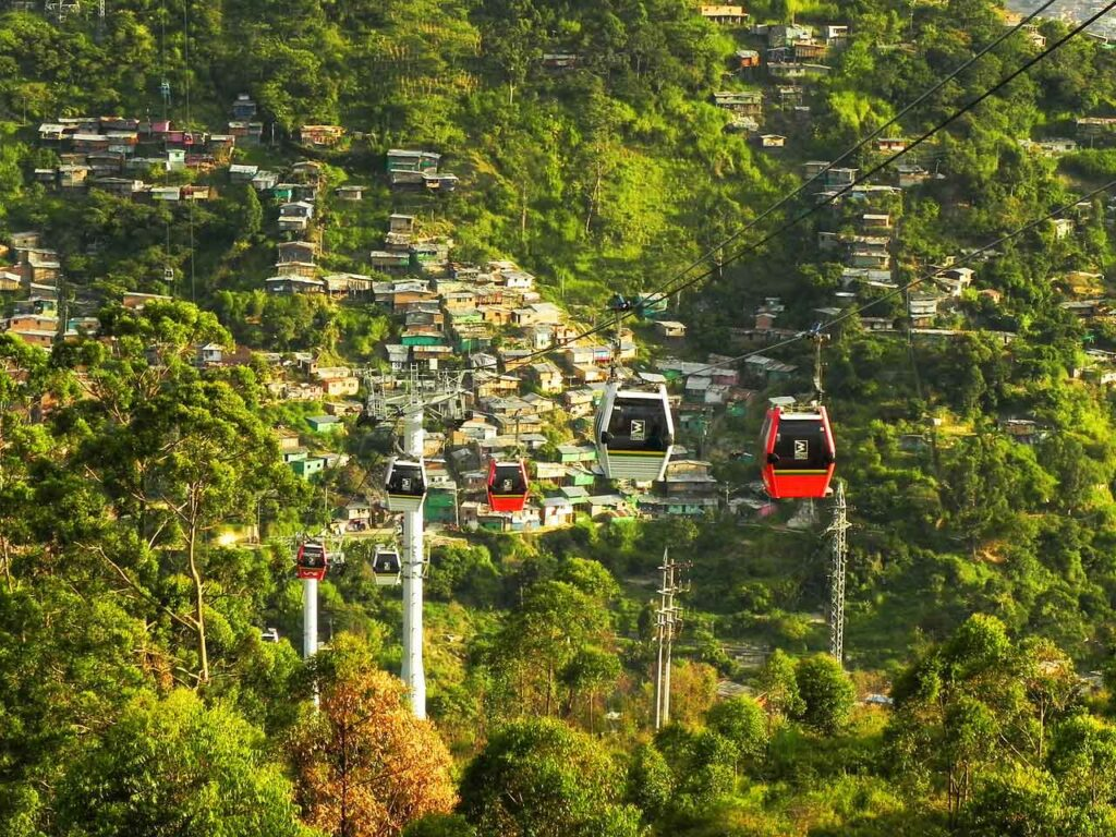 Cable car in Medellin Colombia