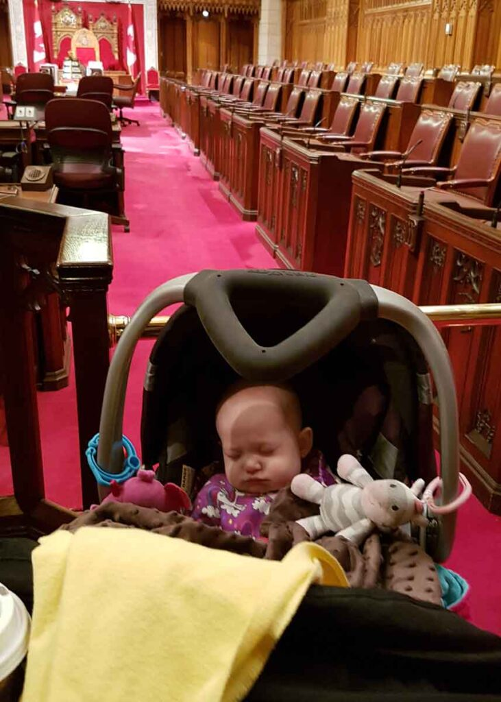 Ottawa Parliament Tour with Baby