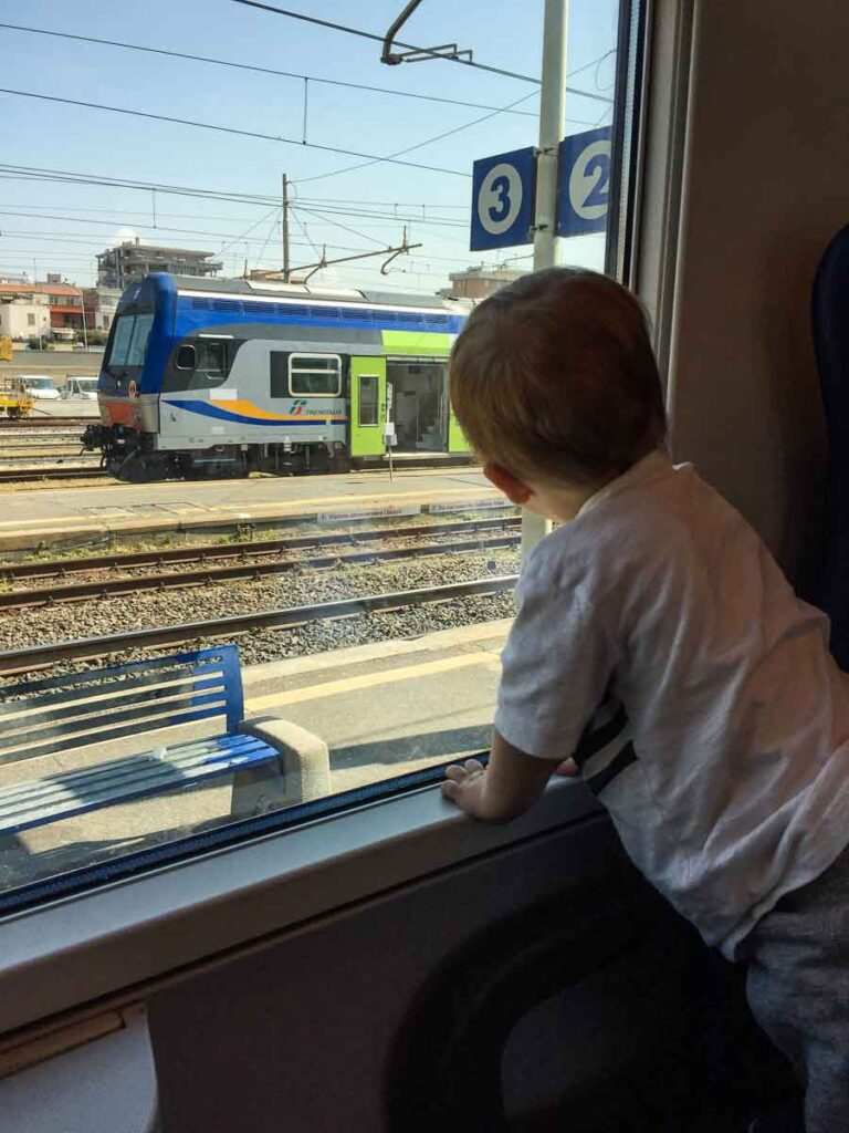Getting around by train in Italy with toddlers