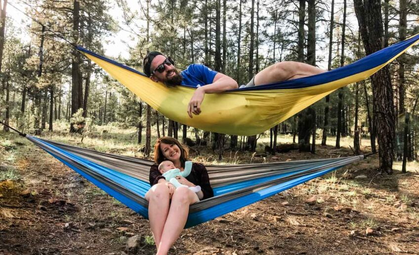 tent camping with a baby