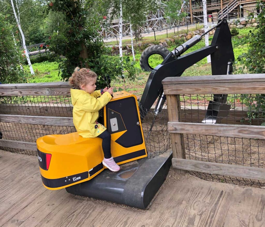 image of toddler at Story Land Theme Park