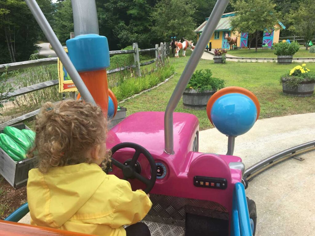 image of toddler at Story Land